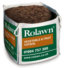 Rolawn Vegetable and Fruit Topsoil 1m Bulk Bag 1000 litres approx volume when packed