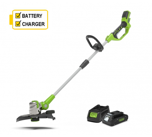 Greenworks G24LT30K2 Deluxe Line Trimmer CW 2Ah Battery and Charger