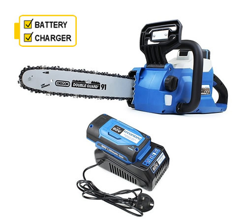 Hyundai HYC60Li 60v Cordless 12 Chainsaw cw battery and charger